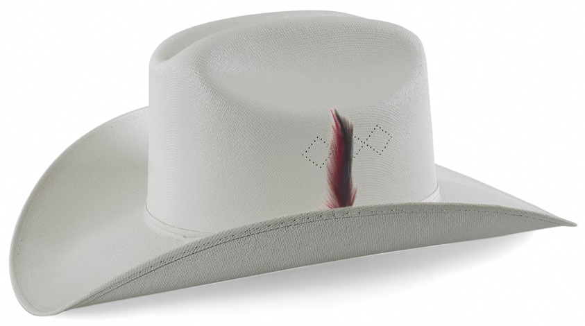 Straw Hat Texas Plume