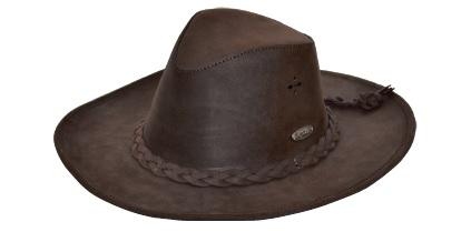 Leather Lux Braid Hat