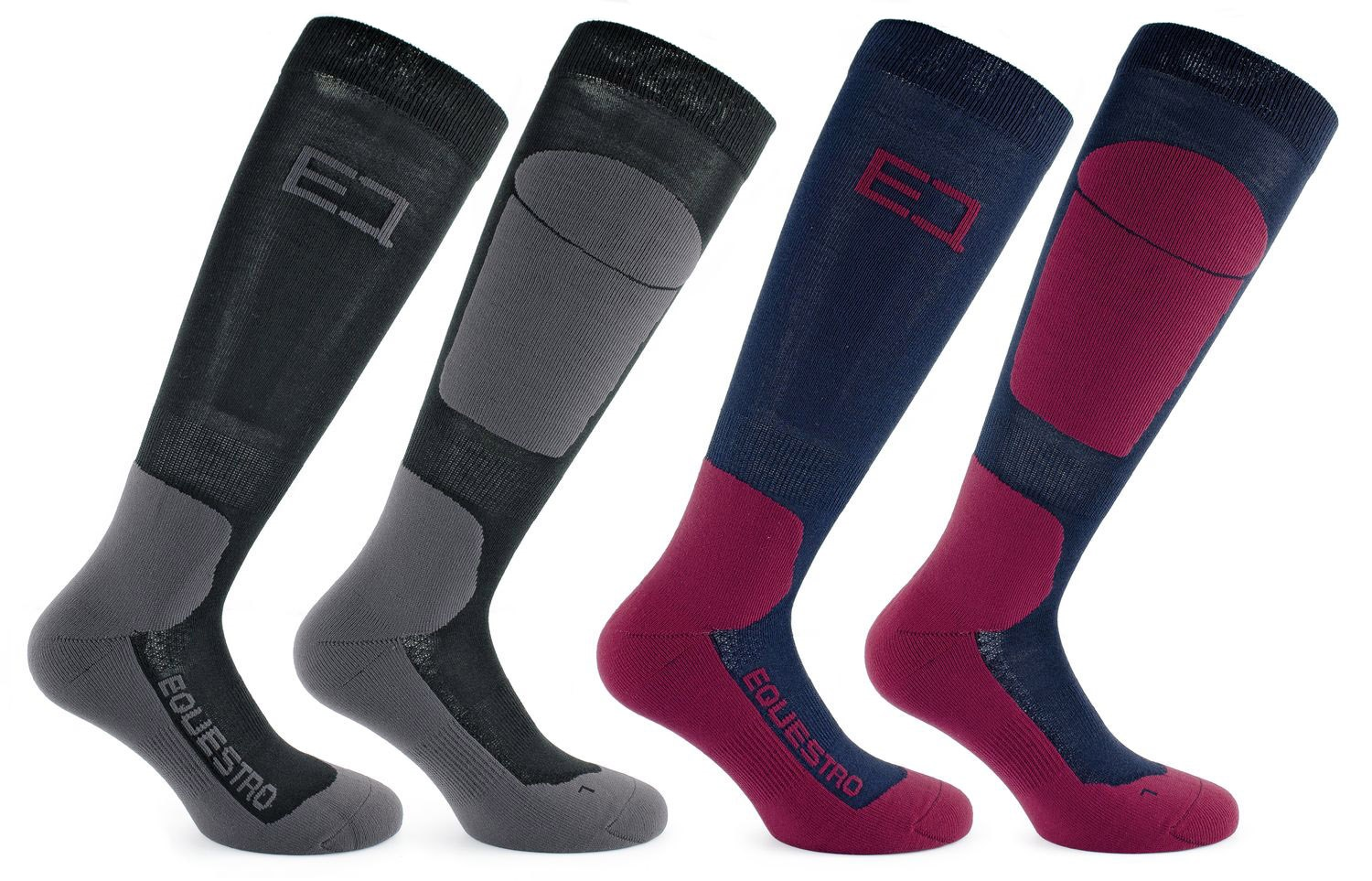 Equestro Advance Long Sock Svart/Grå S(35-38)