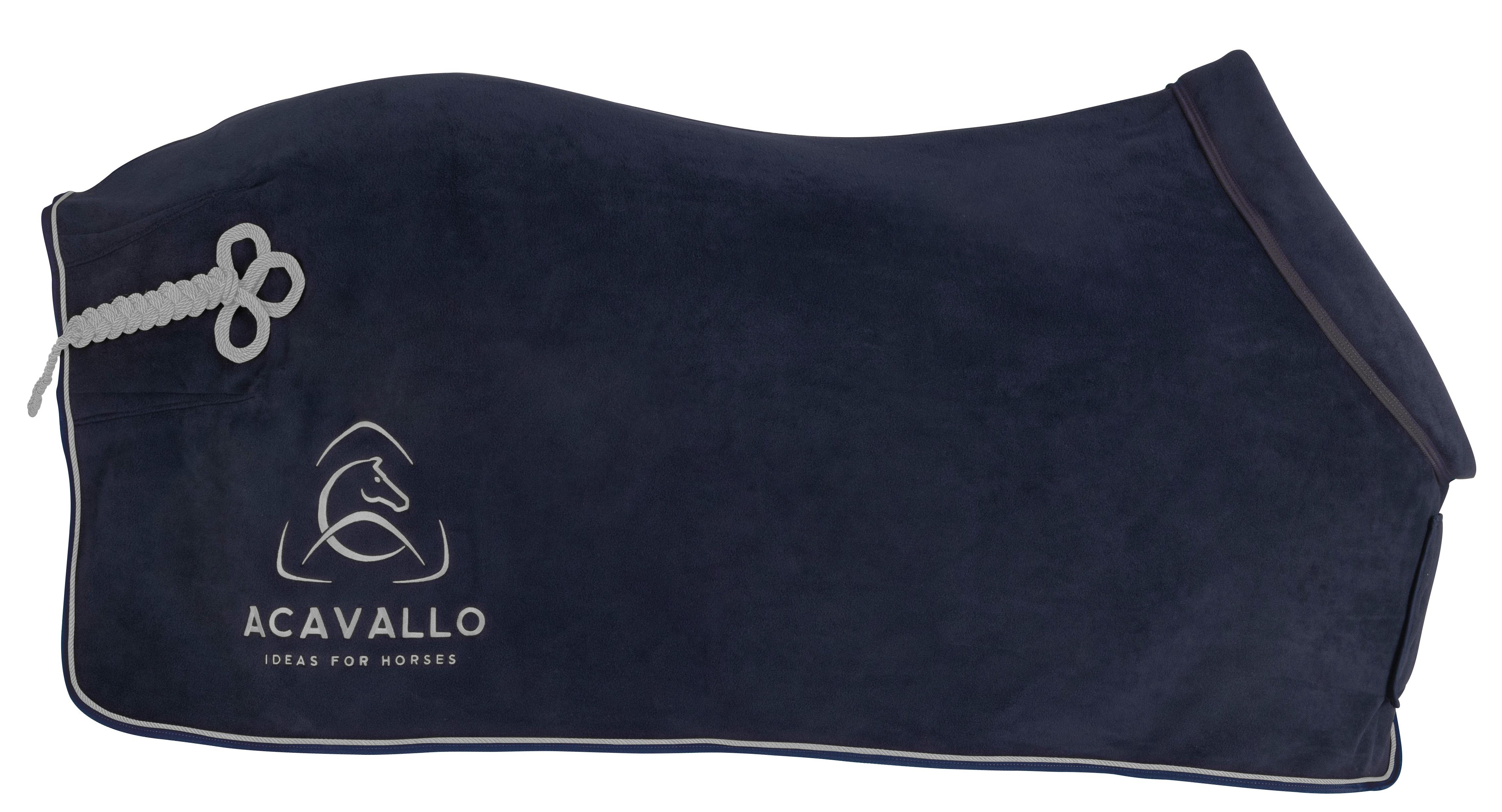 Acavallo Fleece Täcke med vadderad krage