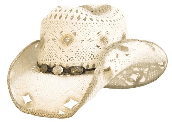 Straw Hat Women Bicolor