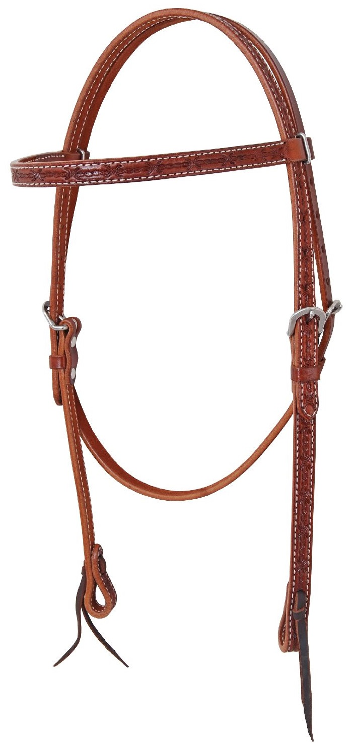 Pools Headstall Barbwire  Chestnut Full