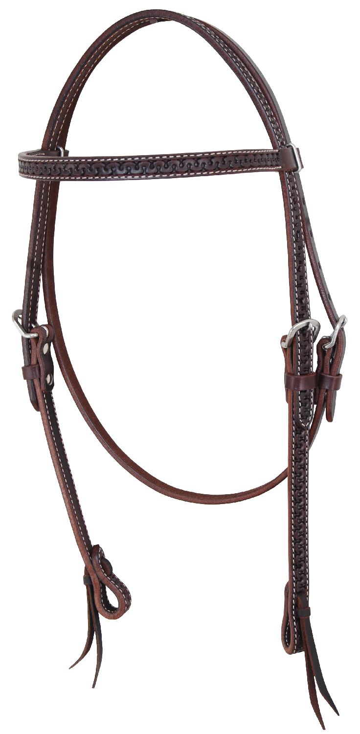 Pools Headstall Snake Tooling  Mörkbrun Full