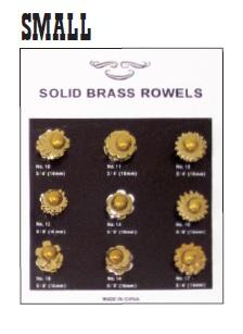 Brass Spurs Rowel Card